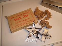 1940s Original NOS SAFETY STAR License Plate Topper Vintage Chevy Ford Jalopy vw