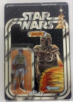 1979 Vintage Kenner Star Wars 21 Back-B Boba Fett AFA 40 G #12117027