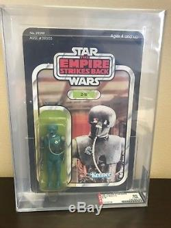 1980 Vintage Kenner ESB Star Wars 2-1B 41D Back AFA 85Y (85,85,85) RARE UNPUNCHD