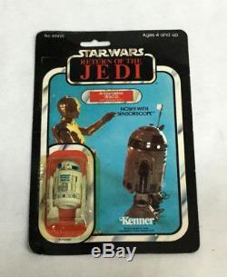 1983 Star Wars ROTJ Return of Jedi R2D2 Figure Carded Sealed MOC 65 Back Vintage