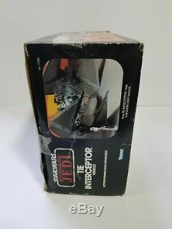 1983 Vintage Star Wars TIE INTERCEPTOR Vehicle Kenner NEVER USED DISPLAYED