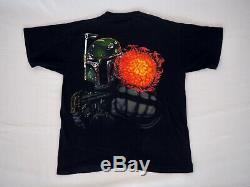 1990's Star Wars Tultex Vintage Black T-Shirt X-Large Graphic Tee, Boba Fett