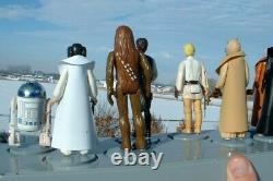 1st 12 Vintage Figures LOT withcustom Weapons + 1977 Early Bird Display Star Wars