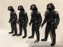 4 X Vintage Star Wars IMPERIAL GUNNER LAST 17 Figur Kenner POFT 1984
