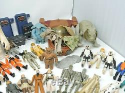 73 Vintage Kenner Star Wars Figure LOT with Darth Vader Carrying Case, 17 weapons