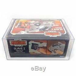AFA Graded Star Wars Slave 1 Boba Fett 1981 Vintage, Mandalorian Kenner NR