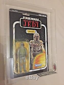 Boba Fett 1983 Vintage Kenner Star Wars ROTJ 65bk-B MOC UKG AFA Y70% Super Rare