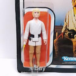 ESB LUKE SKYWALKER FARMBOY Vintage Star Wars Figure & 41 Back MOC Kenner 1977