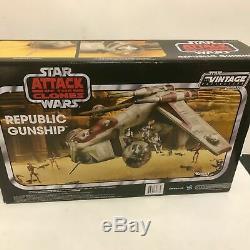 Hasbro Star Wars Vintage Collection Attack Of The Clones Republic Gunship Tru