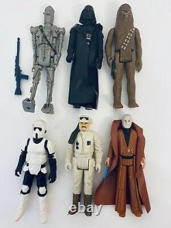 Huge Vintage 70s/80s Kenner Star Wars Action Figure Lot of 41 + Weapons Original