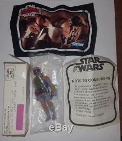 Kenner Boba Fett 1979 VTG Star Wars Action Figure Mail Away Sealed VHTF Rare Box
