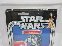Kenner Vintage Moc 1978 Star Wars New Hope 21-back Death Star Droid Afa 80 Afa80