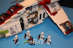LEGO STAR WARS Original 7163 REPUBLIC GUNSHIP 1st Edition 100% COMPLETE +figs