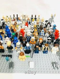 LEGO Star Wars 41 RANDOM Lots of 4 Minifigures Droids + Weapons &usedMix