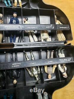 Lot Of 31 Vintage 1977-1984 Star Wars Figures Darth Vader Case /W Weapons