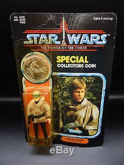 MOC vintage LUKE SKYWALKER poncho Kenner Star Wars action figure 1985 last 17