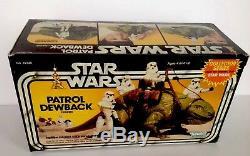 Mint In Sealed Nm Box Vintage 1983 Star Wars Patrol Dewback Action Figure Set