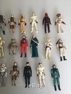 Rare Vintage Star Wars Figures including Stormtrooper Luke