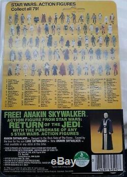 Rare Vintage Star Wars Moc 1983 Rotj Ewok Wicket 79 Back Anakin Offer Hong Kong