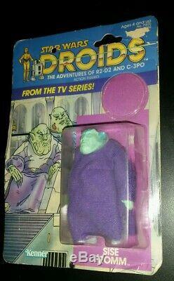 SISE FROMM DROIDS cartoon Vintage Star Wars Figure KENNER 1985 ORIGINAL