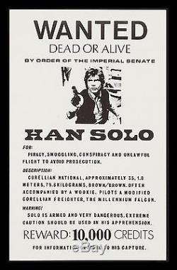 STAR WARS CineMasterpieces ORIGINAL VINTAGE HAN SOLO WANTED POSTER 1970'S