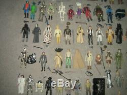 STAR WARS Vintage 74 x Action Figuren v. Kenner 1977-1984 POTF Yak Face komplett