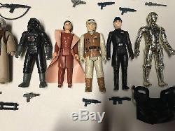 STAR WARS vintage 1980 lot ESB set action figures Complete ORIGINAL weapons