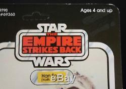 STAR WARS vintage ESB HAN SOLO HOTH 41BK AFA Worthy MOC Original Unopened