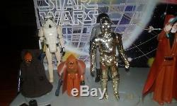 Star Wars 1977 Vintage Mail Away Display Stand and First 12 Figure Lot