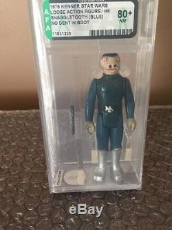 Star Wars 1978 Blue Snaggletooth Afa 80+sears Execlusive Kenner Vintage Must See