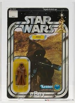 Star Wars 1978 Vintage Kenner 12 Back A Vinyl Cape Jawa MOC AFA 80