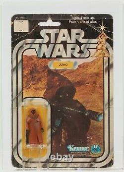 Star Wars 1978 Vintage Kenner Canada 12 Back A Vinyl Cape Jawa MOC AFA Q-30