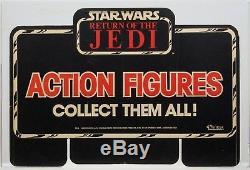 Star Wars 1983 Vintage Kenner ROTJ Collect Them All! Display Header AFA 75