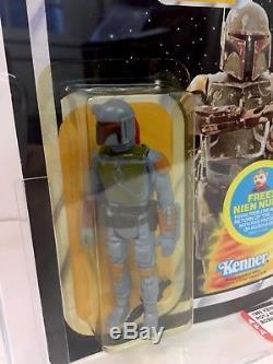 Star Wars Boba Fett 48 Back Afa 80y Rotj Moc Kenner Vintage Rare 1983 Han Solo