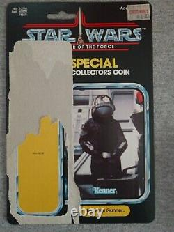 Star Wars Death Star Imperial Gunner POTF coin & card Vintage Last 17 1985