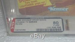 Star Wars Droids R2 D2 Vintage Kenner 1985 Afa 80 Graded