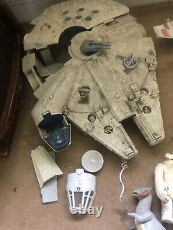 Star Wars JobLot Vintage Figures Vehicles Han Solo Millennium Falcon X-Wing Yoda