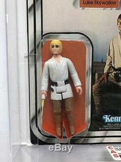 Star Wars Luke Skywalker 12 Back-C Dark Pants Taiwan Vtg MOC CAS 80 80/80/85 AFA