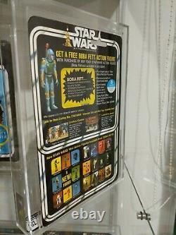 Star Wars R5d4 20 back AFA 70, 75, 85 moc Boba Fett offer Kenner 1978 vintage