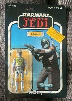 Star Wars ROTJ 1983 Boba Fett 77 Back Vtg Kenner Sealed MOCClear Bubble Nice