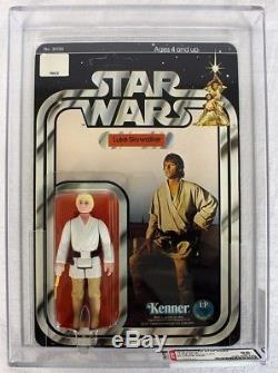 Star Wars Vintage 12 Back-B Luke Skywalker AFA 85 NM+ #17599273