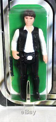 Star Wars Vintage 12 Back-C Han Solo (Large Head) AFA 85 NM+ #12969880