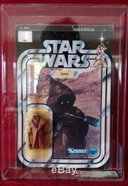 Star Wars Vintage 1977 Kenner Moc 12 back A Vinyl Cape Jawa Afa 80% unpunched