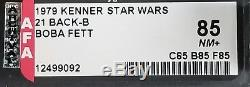 Star Wars Vintage 21 Back Boba Fett Moc Afa 85 Nm+ (85/85/85) Unpunched