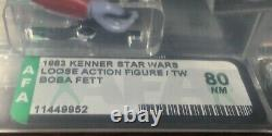 Star Wars Vintage BOBA FETT AFA 80 NM New Case