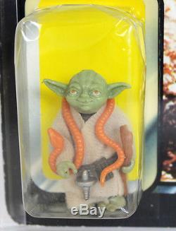 Star Wars Vintage Carded Tri-Logo Palitoy 70 Back-B Yoda (Orange Snake) AFA 70 E