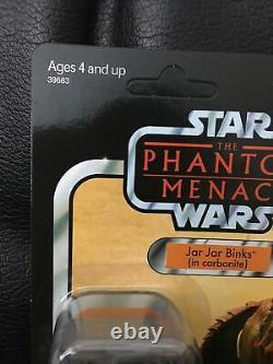 Star Wars Vintage Collection 2012 SDCC Jar Jar Binks in Carbonite Unpunched