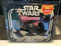 Star Wars Vintage Darth Vader Tie Fighter Graded Afa 80 1983