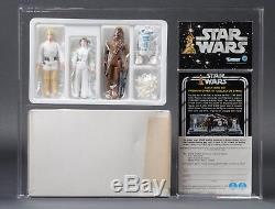 Star Wars Vintage Early Bird Kit Mailer Telescoping Luke AFA 85 (85/85/85)