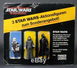 Star Wars Vintage German Parker POTF 3 Pack Dengar/Emperor/Darth Vader MOC